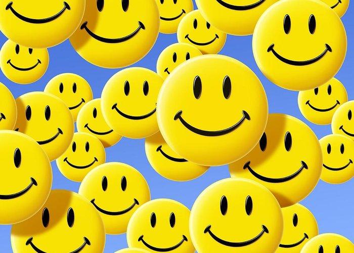 Smiley Face Symbols Greeting Card For Sale By Detlev Van Ravenswaay