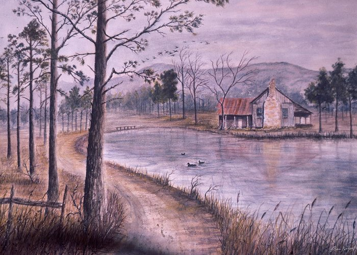 Morning Greeting Card featuring the painting South Carolina Morning by Ben Kiger