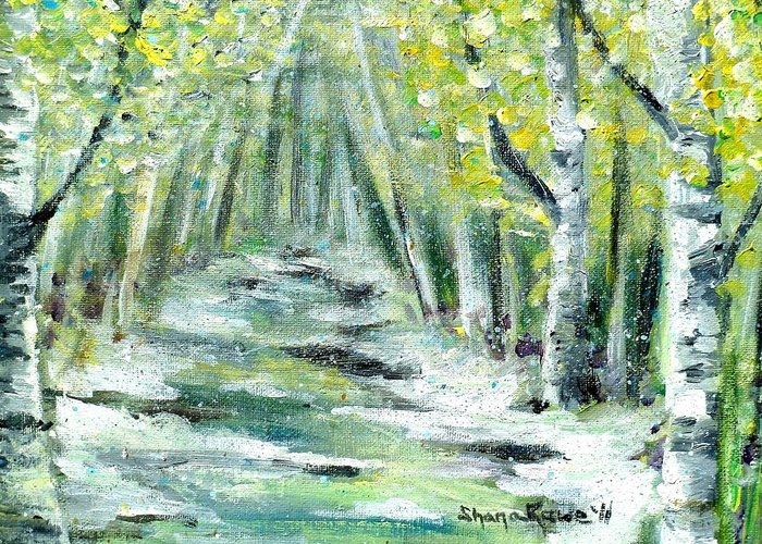 Spring Greeting Card featuring the painting Spring by Shana Rowe Jackson