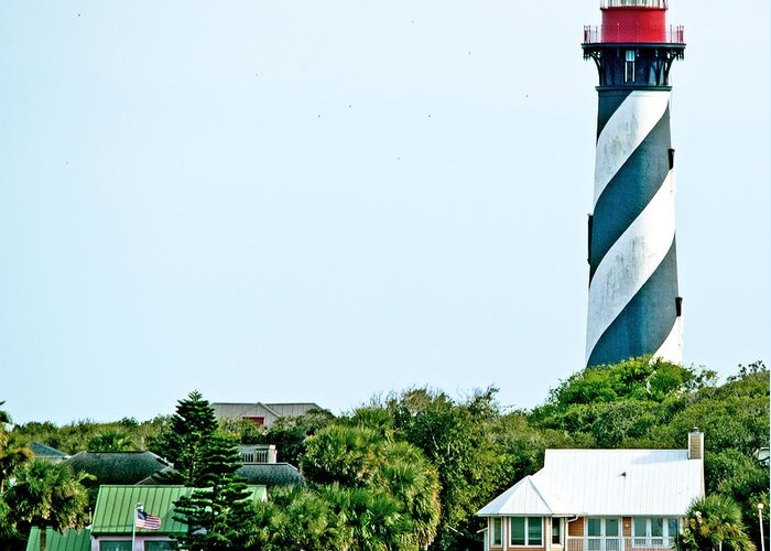 Scenery Greeting Card featuring the photograph St. Augustine Lighthouse by Kenneth Albin