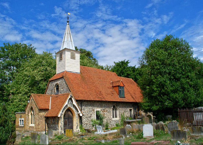 St Laurence Church Greeting Card featuring the photograph St Laurence Church Cowley Middlesex by Chris Day