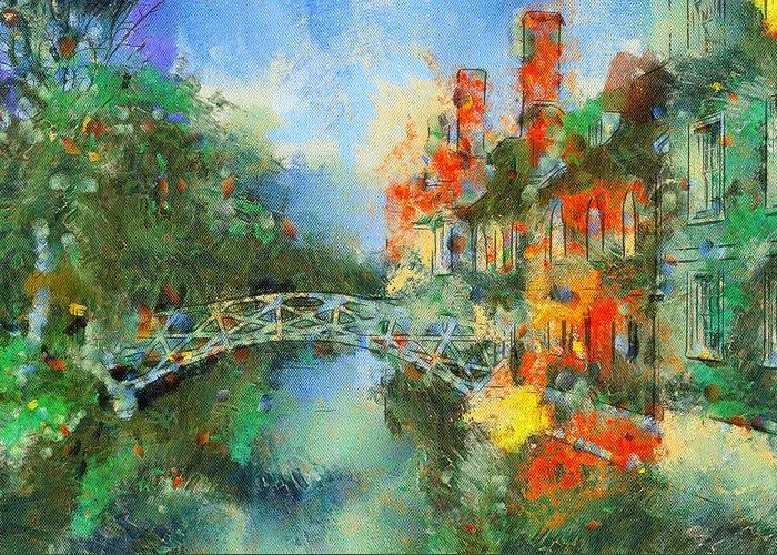 Stamford Greeting Card featuring the digital art Stamford Bridge by Yury Malkov
