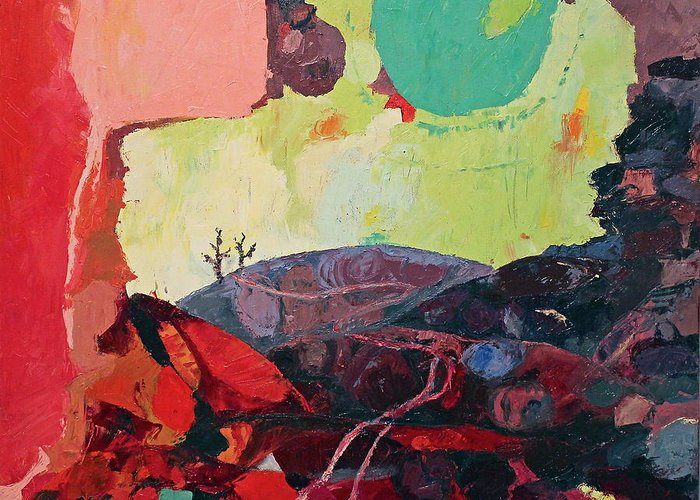 Stones Greeting Card featuring the painting Start Leaving Things Behind by Missy Borden
