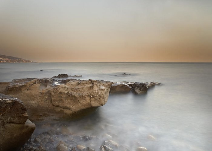 Bussana Greeting Card featuring the photograph Sunset On The Mediterranean by Joana Kruse