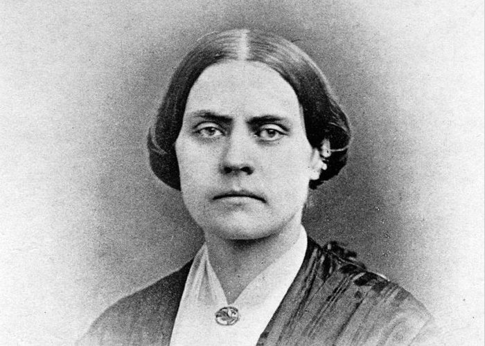 History Greeting Card featuring the photograph Susan B. Anthony, American Civil Rights by Photo Researchers, Inc.