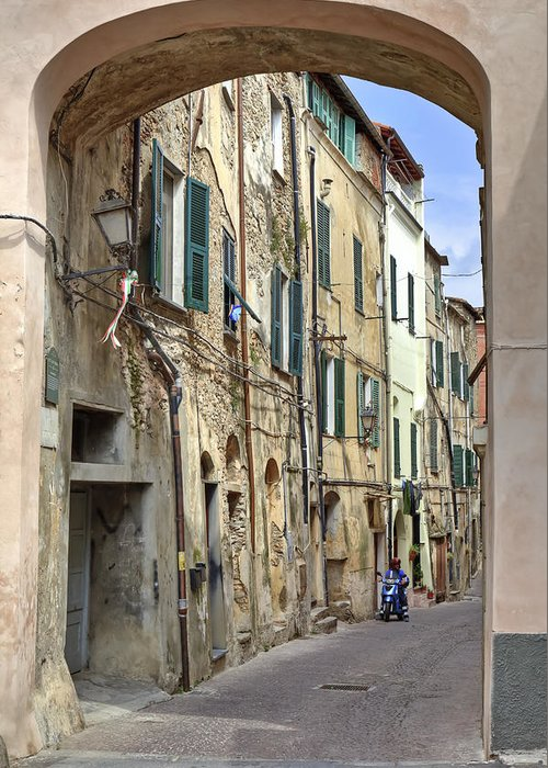 Taggia Greeting Card featuring the photograph Taggia In Liguria by Joana Kruse