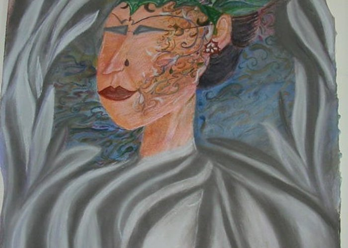 Pastel Greeting Card featuring the painting Tattoo You by Marian Hebert