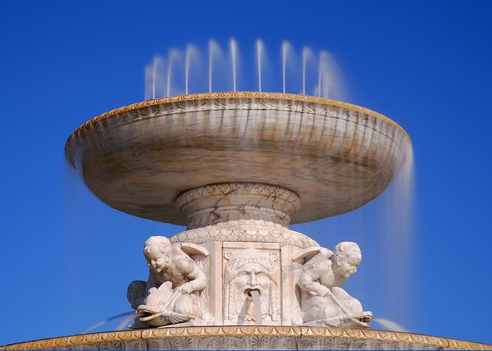 Belle Greeting Card featuring the photograph The Belle Isle Scott Fountain by Gordon Dean II
