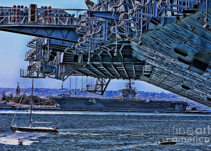 Aircraft Carriers Greeting Card featuring the photograph The Carriers by Tommy Anderson