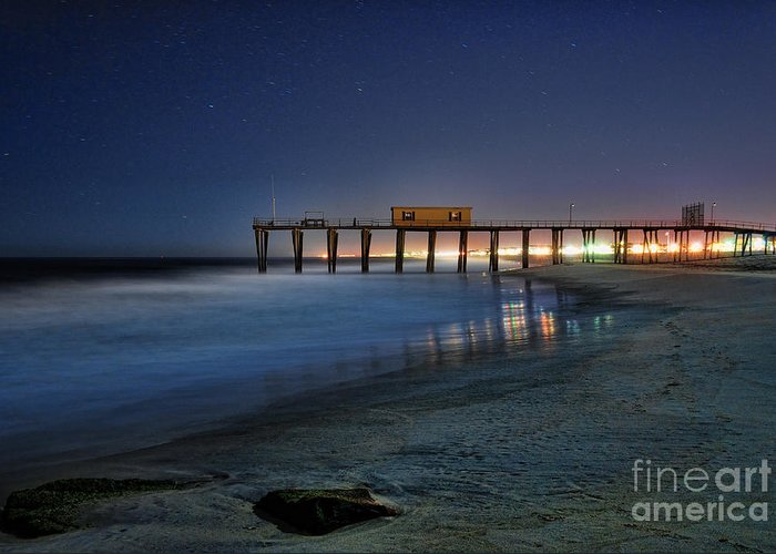 Fishing Pier Greeting Card featuring the photograph The Fishing Pier by Paul Ward