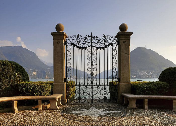 Lugano Greeting Card featuring the photograph The Gateway To Lago Di Lugano by Joana Kruse
