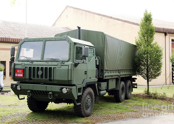6x6 Greeting Card featuring the photograph The Iveco M250 8 Ton Truck Used by Luc De Jaeger