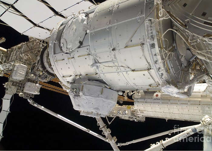 Sts-130 Greeting Card featuring the photograph The Pressurized Mating Adapter 3 by Stocktrek Images