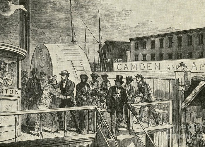 America Greeting Card featuring the photograph The Rescue Of Jane Johnson And Her by Photo Researchers