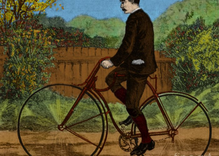 Rover Bicycle Greeting Card featuring the photograph The Rover Bicycle by Science Source