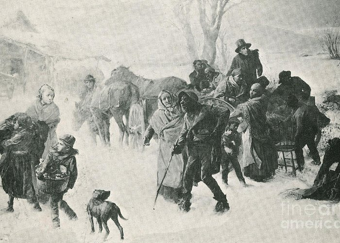 America Greeting Card featuring the photograph The Underground Railroad by Photo Researchers