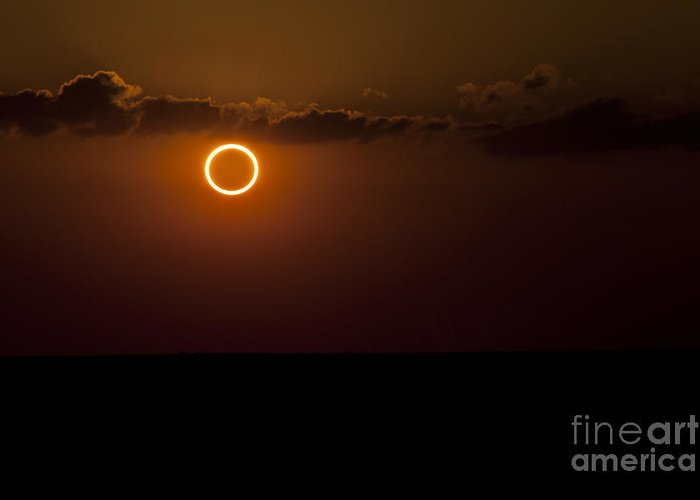 Natural Phenomenon Greeting Card featuring the photograph Totality During Annular Solar Eclipse by Phillip Jones