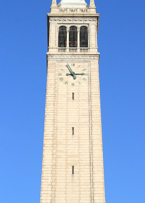 Long Greeting Card featuring the photograph Uc Berkeley . Sather Tower . The Campanile . Clock Tower . 7d10059 by Wingsdomain Art and Photography