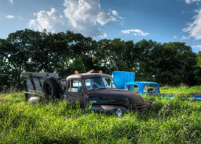 Landscape Greeting Card featuring the photograph Vintage Truck by Matt Dobson