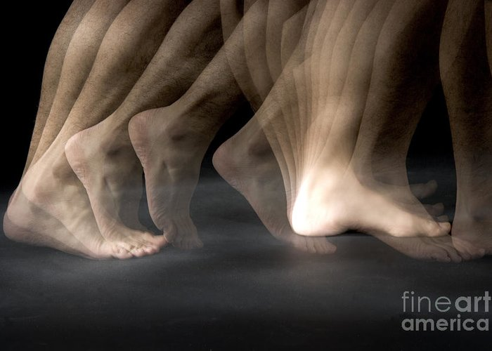 Stroboscopic Greeting Card featuring the Walking by Ted Kinsman