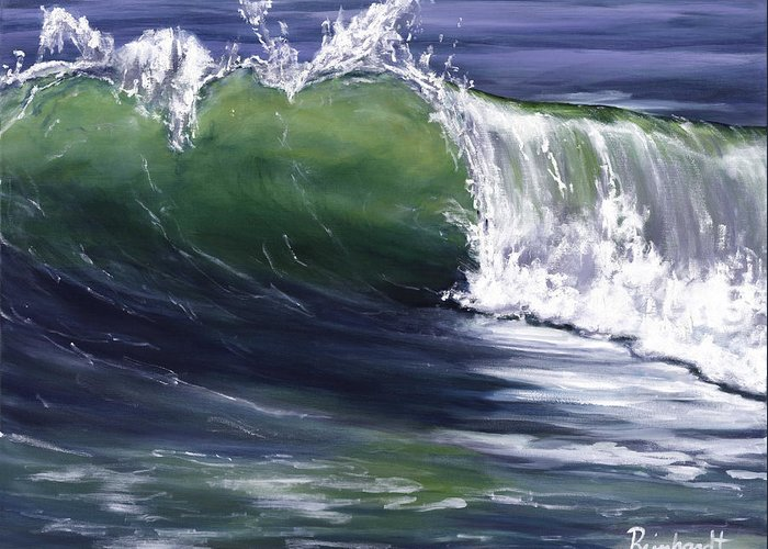 Wave Greeting Card featuring the painting Wave 8 by Lisa Reinhardt