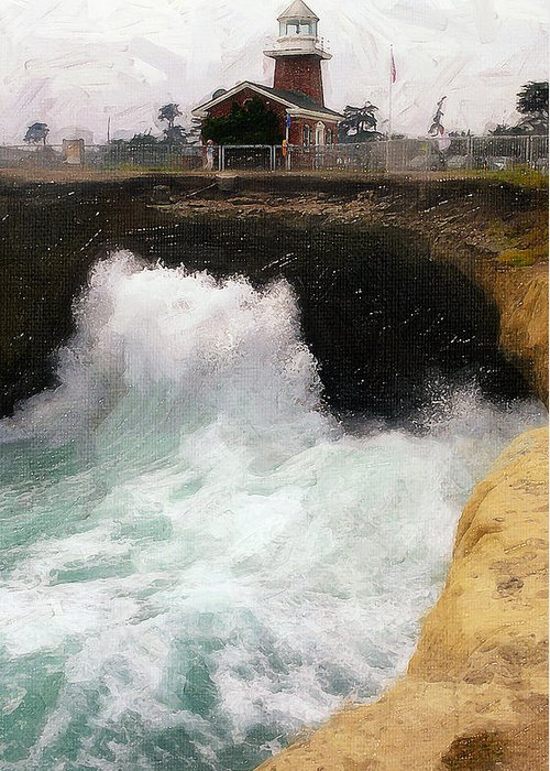 Wave Power Greeting Card featuring the photograph Wave Power by Ron Regalado