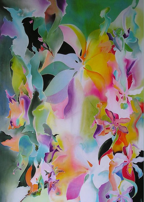 Lotuses Greeting Card featuring the digital art We Are The Lotus by Joanie Mitchell