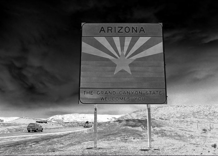 Fine Art Photography Greeting Card featuring the photograph Welcome Sign by David Lee Thompson