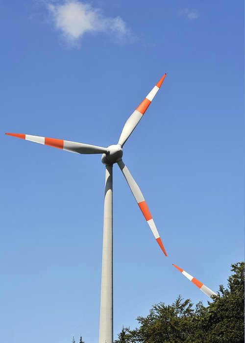 21st Century Greeting Card featuring the photograph Wind Turbine by Gombert, Sigrid