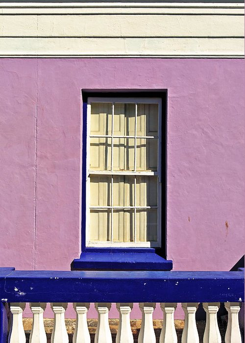 Africa Greeting Card featuring the photograph Windows Of Bo-kaap by Benjamin Matthijs