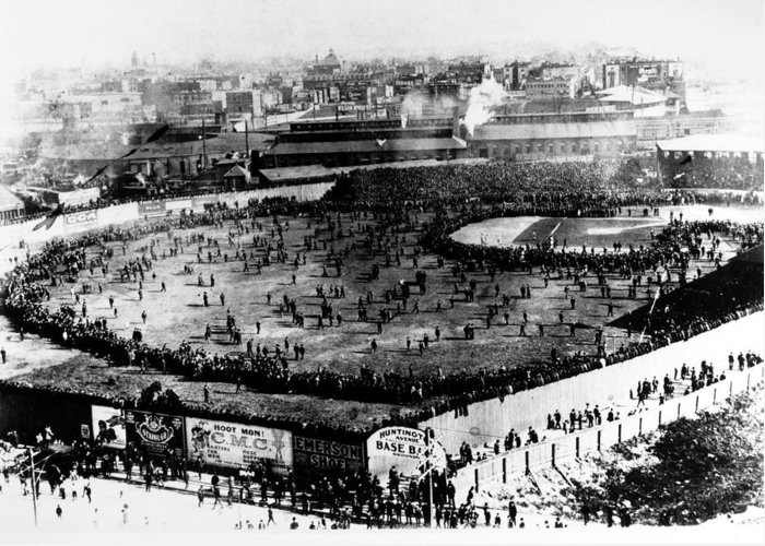 1903 Greeting Card featuring the photograph World Series, 1903 by Granger