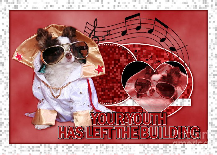 Birthday Greeting Card featuring the digital art Your Youth Has Left The Building by Renae Laughner