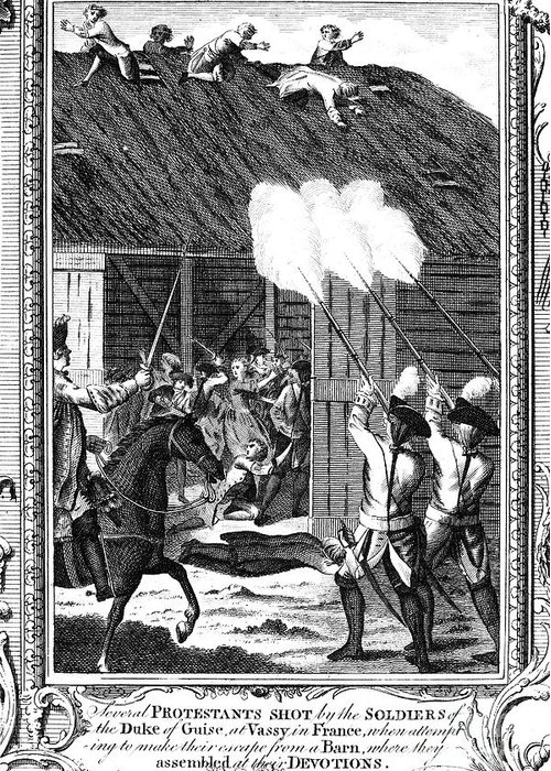 1562 Greeting Card featuring the photograph Foxe: Book Of Martyrs by Granger