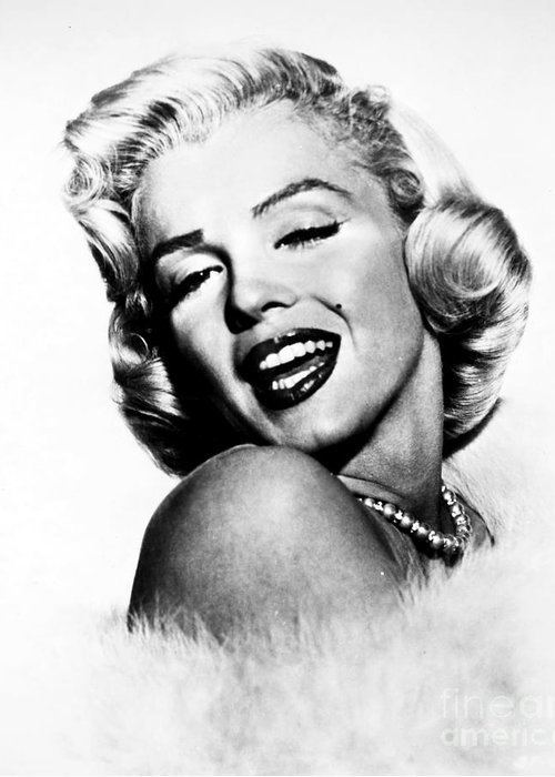 20th Century Greeting Card featuring the photograph Marilyn Monroe by Granger