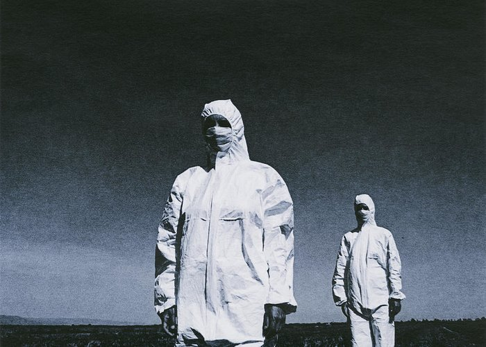 Human Greeting Card featuring the photograph Protective Clothing by Cristina Pedrazzini