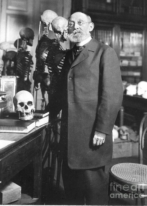 Science Greeting Card featuring the photograph Rudolph Virchow, German Polymath by Science Source