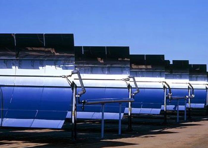 Solar Energy Generating Greeting Card featuring the photograph Solar Power Plant, California, Usa by David Nunuk