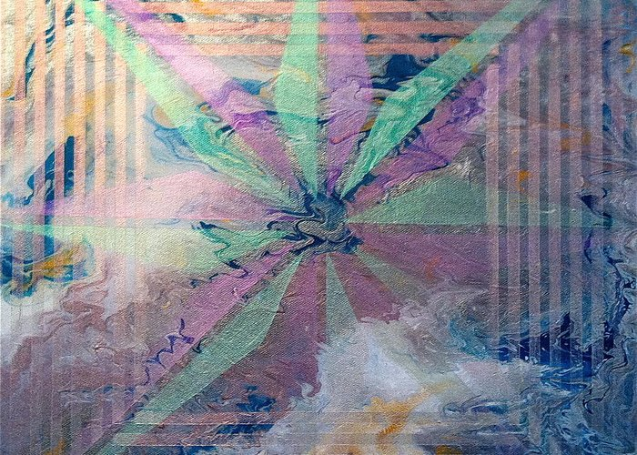 Abstract Greeting Card featuring the painting Untitled by Austin Zucchini-Fowler