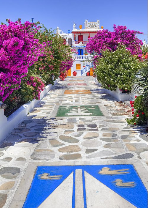 House Greeting Card featuring the photograph Mykonos by Joana Kruse