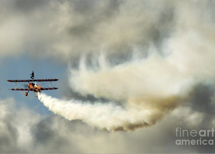 Airshow Greeting Card featuring the photograph Wingwalkers by Angel Tarantella