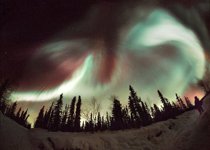 Nature Greeting Card featuring the photograph Aurora Borealis by Chris Madeley