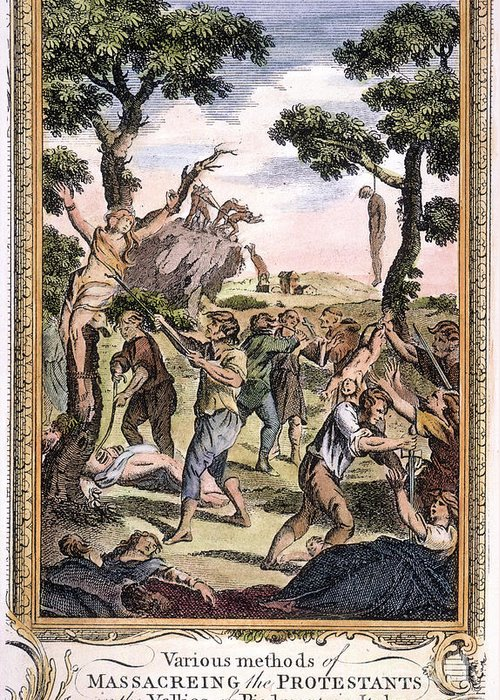 1563 Greeting Card featuring the photograph Foxe: Book Of Martyrs by Granger