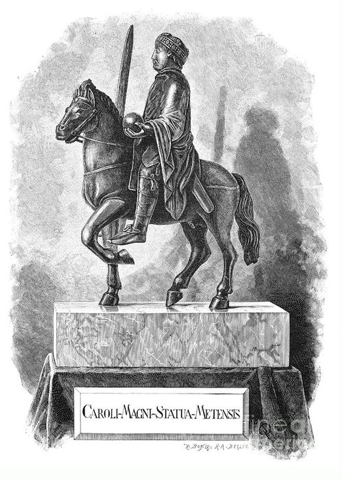 8th Century Greeting Card featuring the photograph Charlemagne (742-814) by Granger