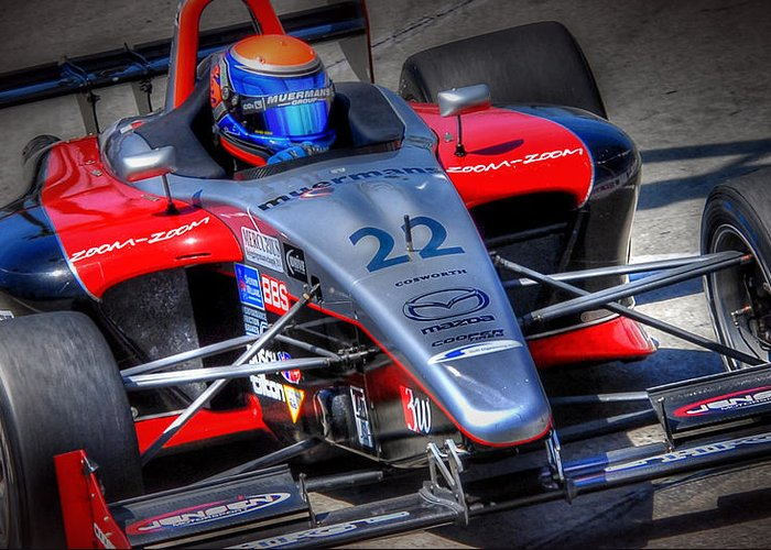 Indy Car Greeting Card featuring the photograph Lbgp by Craig Incardone