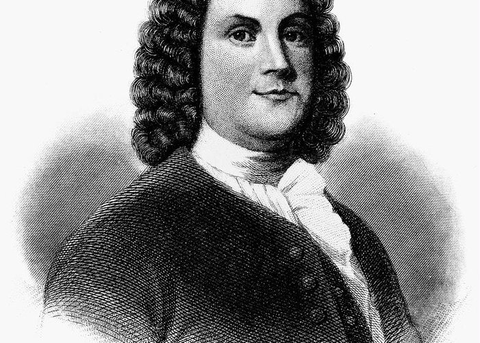 18th Century Greeting Card featuring the photograph Benjamin Franklin (1706-1790) by Granger