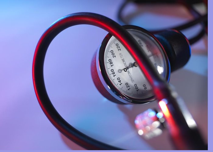 Day Greeting Card featuring the photograph Blood Pressure Gauge by Tek Image