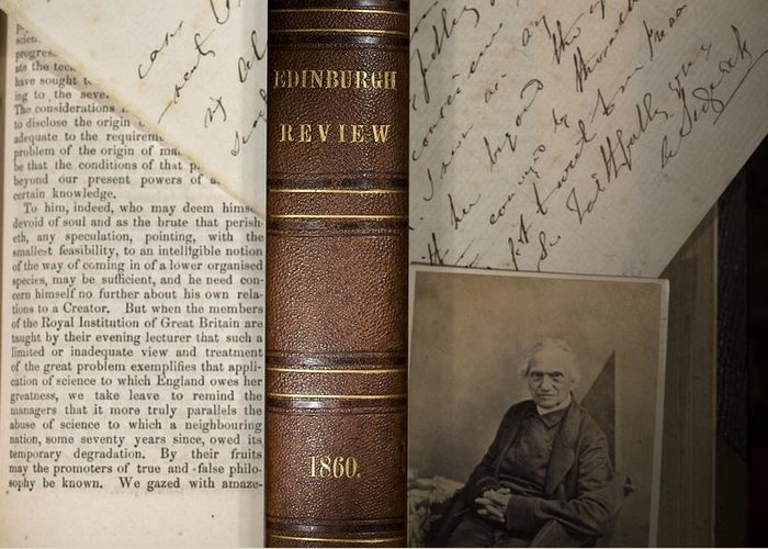 1860 Greeting Card featuring the photograph 1860 Adam Sedgwick Review Of Darwin by Paul D Stewart