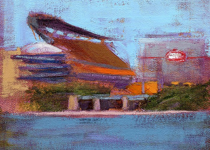Steelers Greeting Card featuring the painting Rcnpaintings.com by Chris N Rohrbach