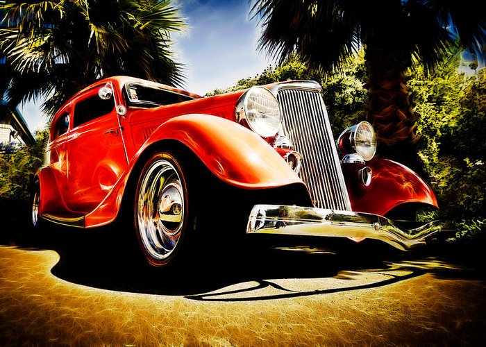 Ford Tudor Greeting Card featuring the photograph 1930s Ford Tudor by Phil 'motography' Clark