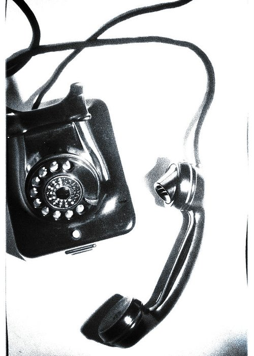Telephone Greeting Card featuring the photograph 1930s Telephone by David Ridley